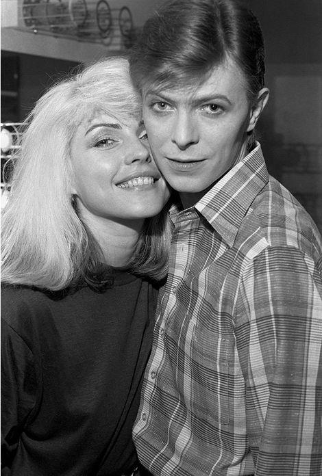 Debbie Harry e David Bowie/Chris Stein/Reprodução