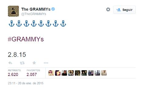 O enigmático tuíte dos caras do Grammy/Reprodução