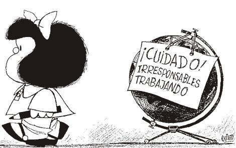 """Mafalda em """"ação""""/Reprodução"""