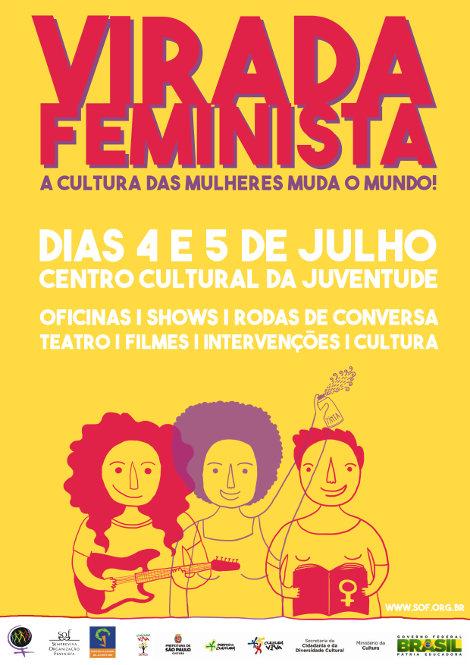 Cartaz da 1ª Virada Feminista/Divulgação